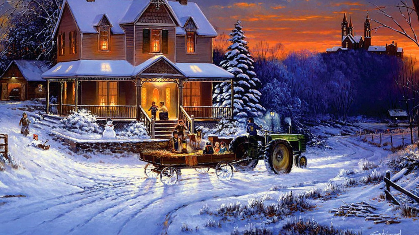 Old fashioned country christmas 1